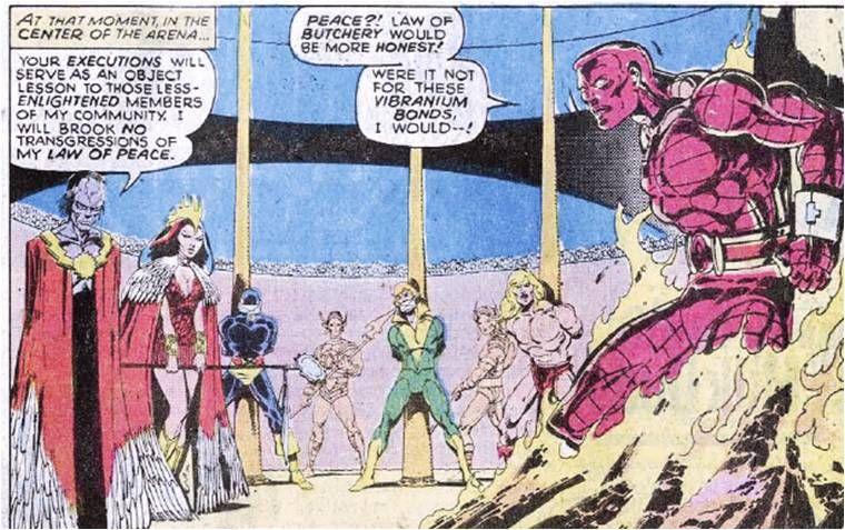 Garrok Zaladane Cyclops Banshee Ka Zar And Colossus X Men Vol 1 116 X Men Shadow King Men