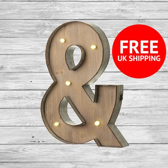 freestanding wooden rustic led light up letters ampersand letter lights numbers marquee letters wall mounted wedding letters