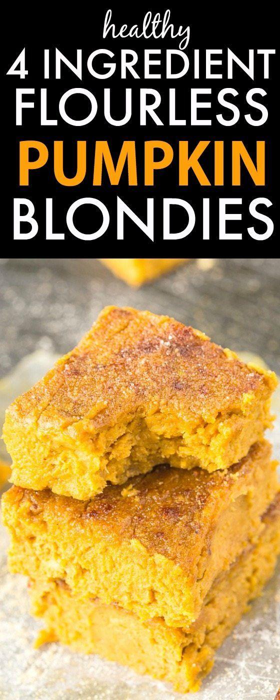 Healthy Flourless Pumpkin Gingerbread Blondies Recipe Healthy