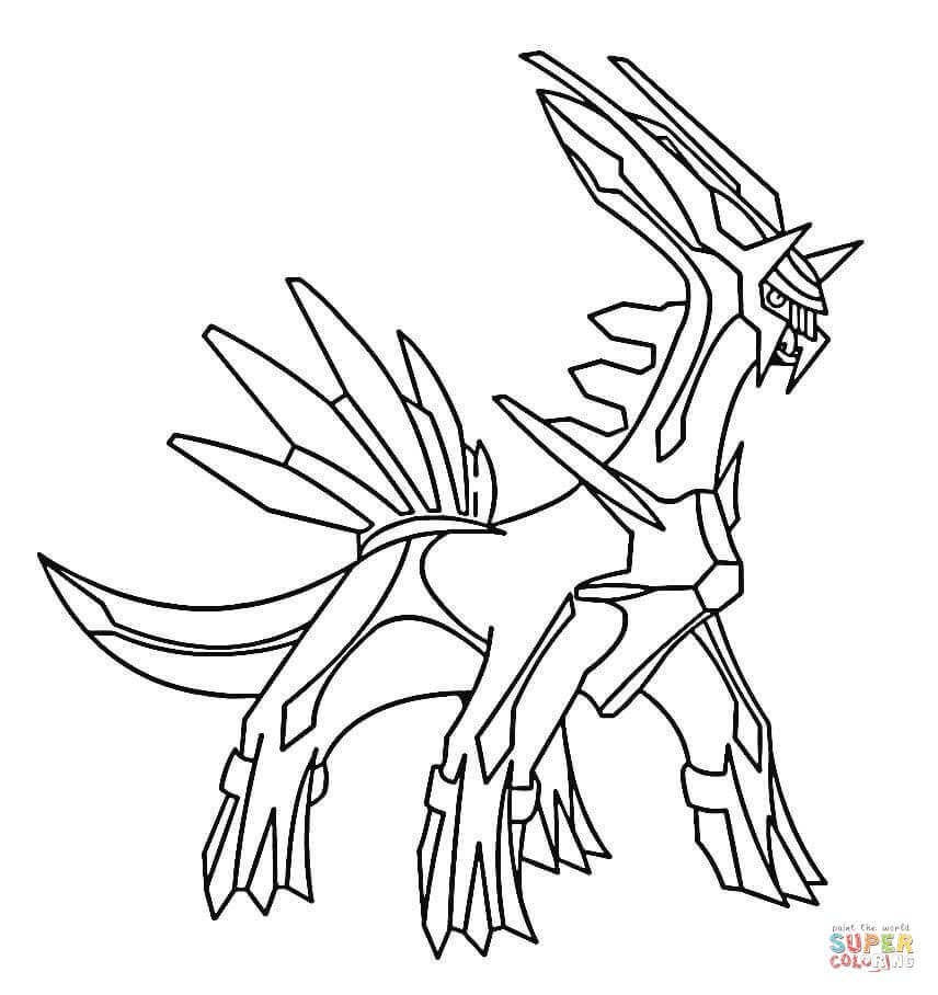 Legendary Pokemon Dialga Pokemon Coloring Sheets Pokemon Coloring Pages Pokemon Coloring