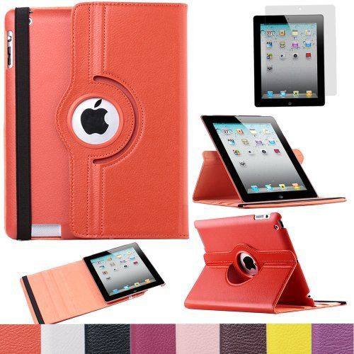 Pandamimi ULAK(TM) 360 Rotating Magnetic PU Leather Case Smart Cover For The New iPad 4 3 2 Generation Tablet with Screen Protector (Orange) by ULAK, http://www.amazon.com/dp/B00DOQOBZC/ref=cm_sw_r_pi_dp_Crn7rb1CR6DPC