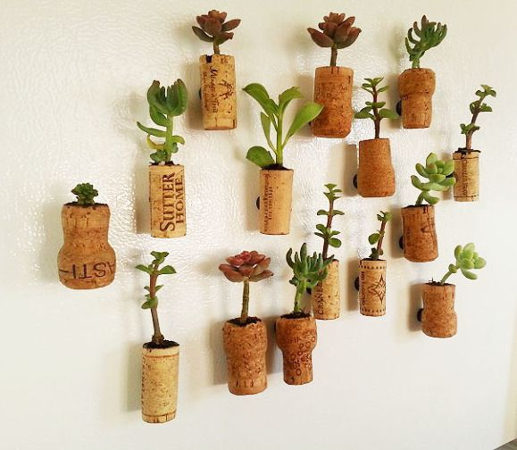 diy cork planters kreative bastelideen mit korken korken pinterest selber machen. Black Bedroom Furniture Sets. Home Design Ideas