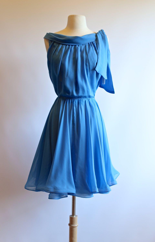 Vintage 1960s Miss Elliette Dress ~ Vintage 60s Silk Chiffon ...