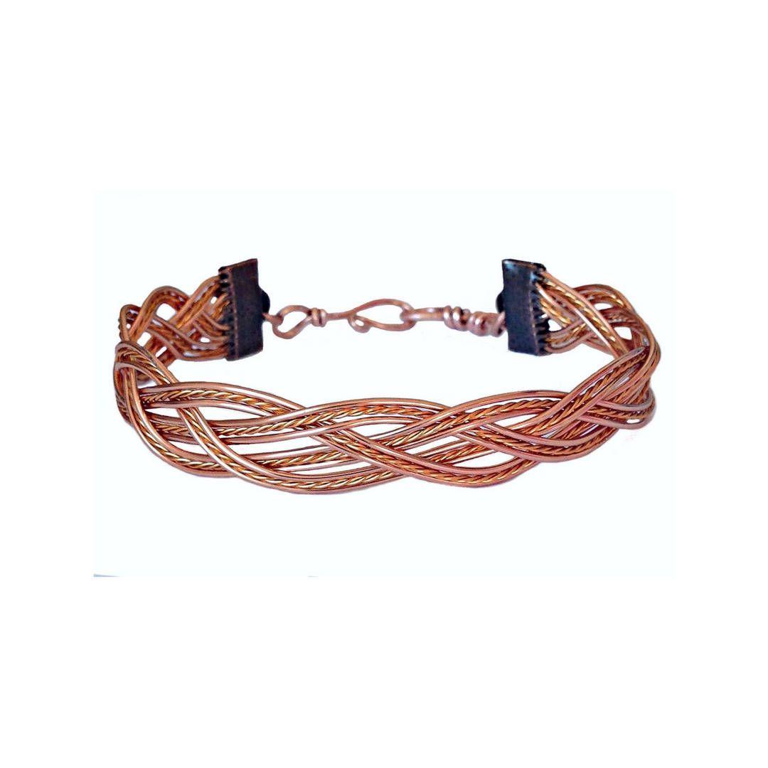 Twisted Wire Bracelet/ Wire Weave Jewelry/ Boho Jewelry/ Copper ...