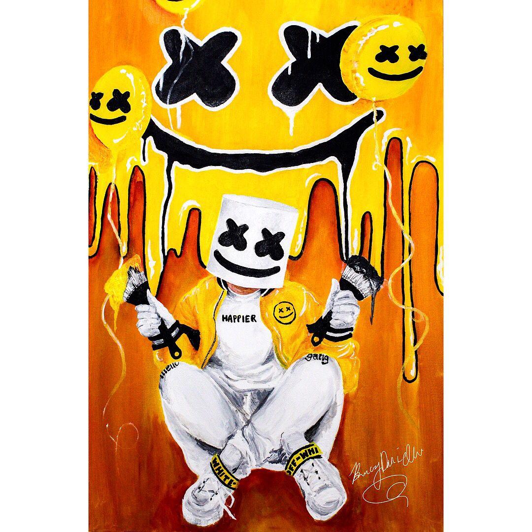 Marshmello Bastille Happier: @marshmellomusic & @bastilledan Art By @breezydaniellee