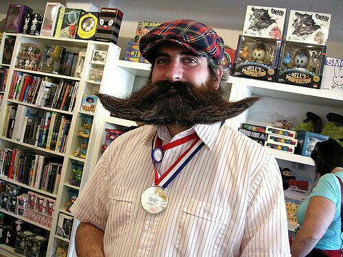 Extreme and bizarre beards and mustaches