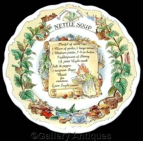Royal Doulton BRAMBLY HEDGE recipe NETTLE SOUP jill barklem 8  wall PLATE 1st