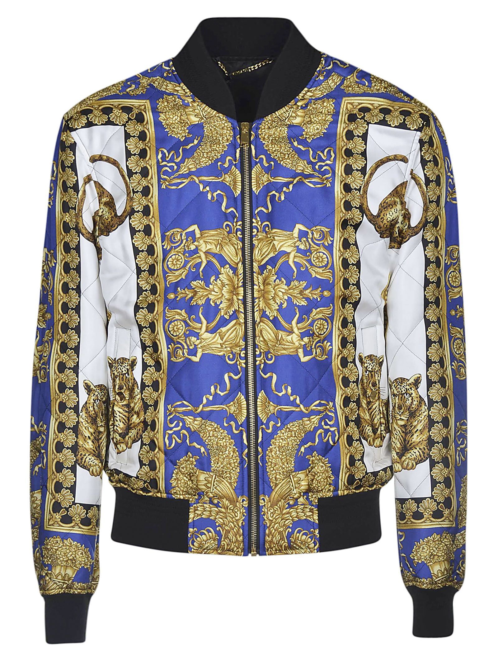 985b09040 VERSACE BAROCCO PRINT BOMBER. #versace #cloth #   Versace in 2019 ...
