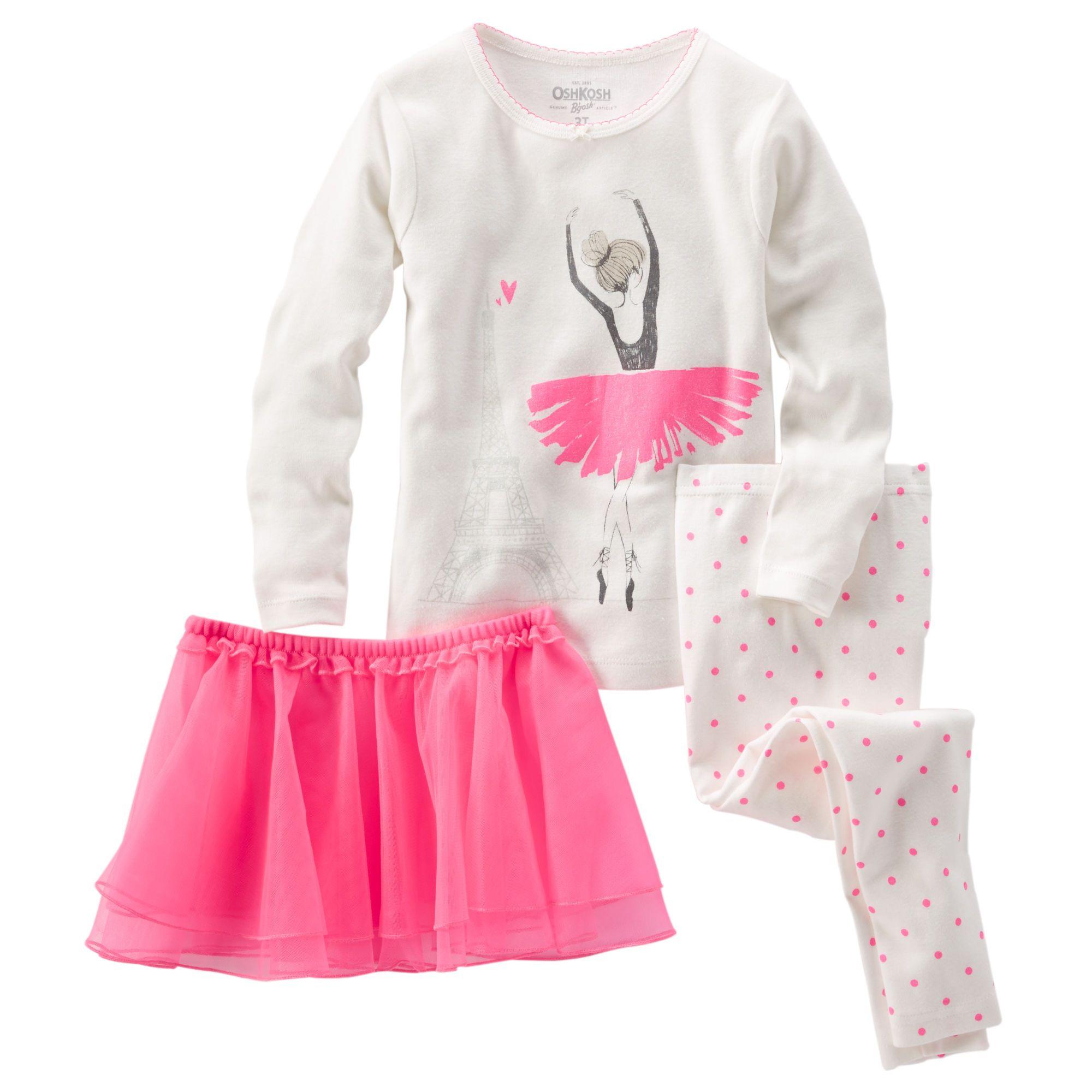 31d7e7578b Baby Girl 3-Piece Ballerina Tutu Cotton PJs
