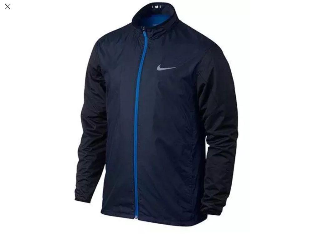 9be0f2d6fcf Nike Shield Full Zip Golf Windbreaker 726401 410 Mens Jacket Size 3XL  Windproof #Nike