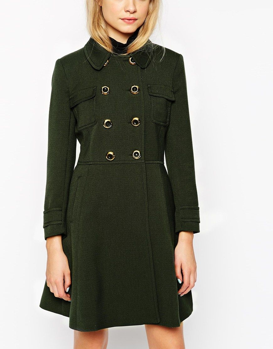 ASOS Coat With 60s Styling $148.00