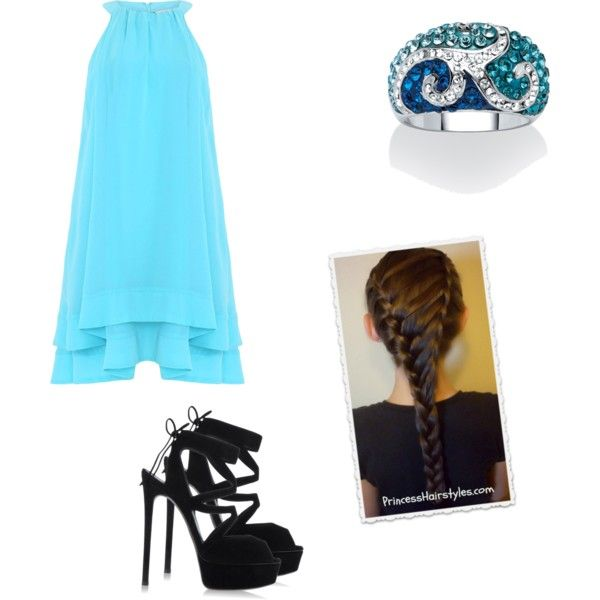 Blue by joigregg on Polyvore featuring polyvore fashion style Badgley Mischka Casadei Palm Beach Jewelry
