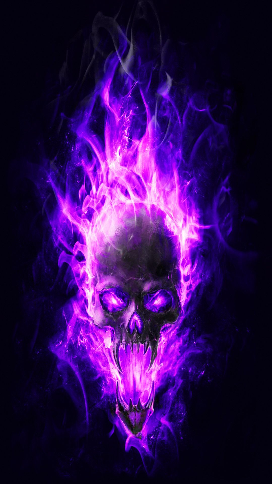 Res 1080x1920 Download Previewblue Flame Skull Wallpaper Skull Wallpaper Skulls Drawing Skull Artwork