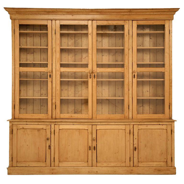 Pine Cabinet Kitchen Ideas: Original Unrestored Antique English Pine China Cabinet