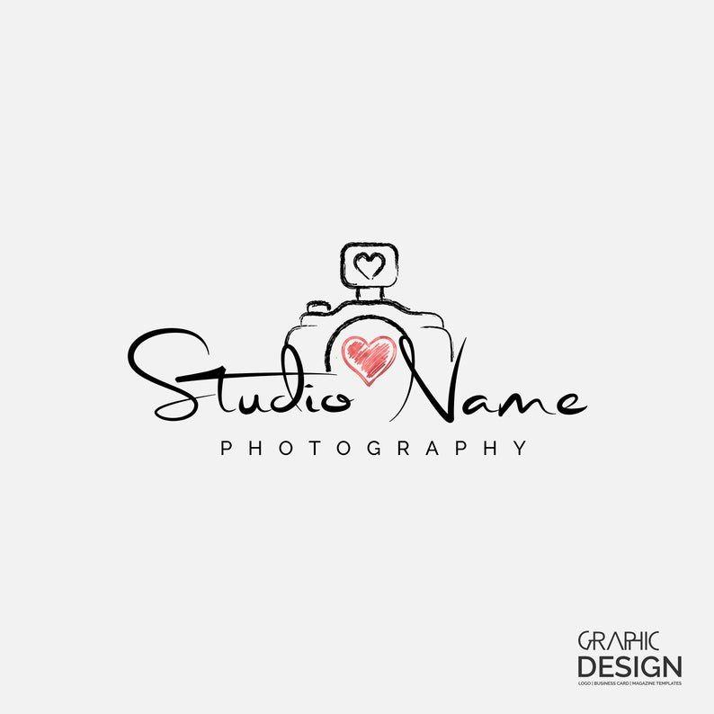 Photography Logo Business Card Design Premade Logo Studio Logo Heart Logo Camera Logo Feminine Logo Boutique Logo Calligraphy Logo Business Card Logo Design Photography Logo Design Wedding Photography Logo Design