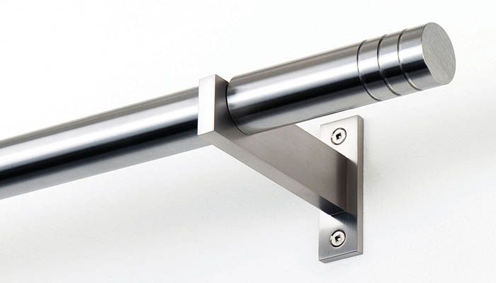 Mira Nickel Finish Stainless Steel Curtain Rods Iron Curtain