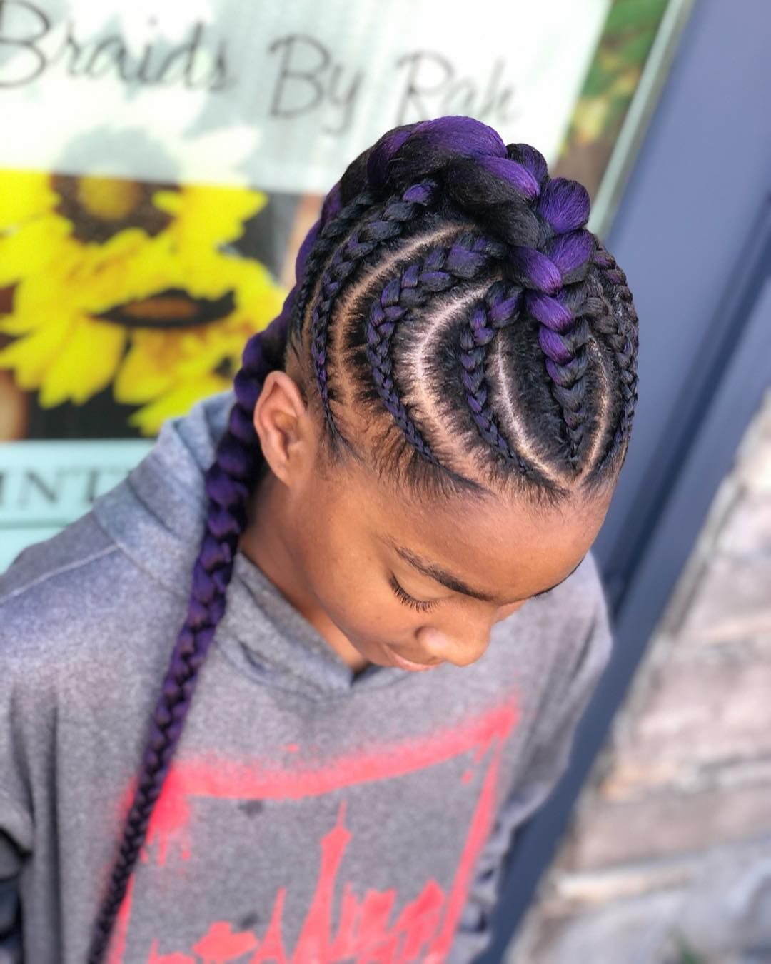 Image may contain: one or more people | Braid styles, Cornrows styles, Braids for black hair