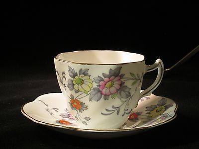 VINTAGE ROSINA CUP and  SAUCER, FINE ENGLISH BONE CHINA, #4921 DAISY FLORALS