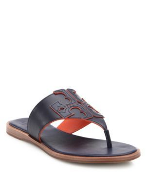 67918bf0d59 TORY BURCH Jamie Leather Logo Thong Sandals.  toryburch  shoes  sandals