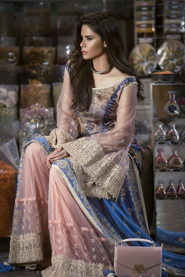 d519cdd119 Ayesha Ibrahim Formal Chiffon Collection ZS Textiles 2017-18 ...