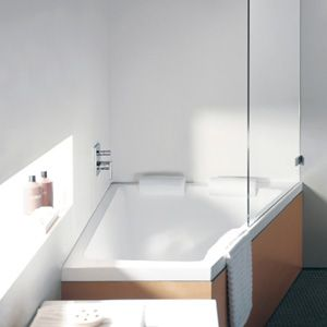Duravit Paiova Inset Corner Bath Doubles As Large Shower