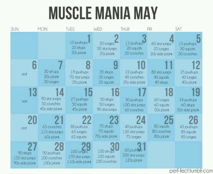 Monthly Workout  Health  Fitness    Monthly Workouts