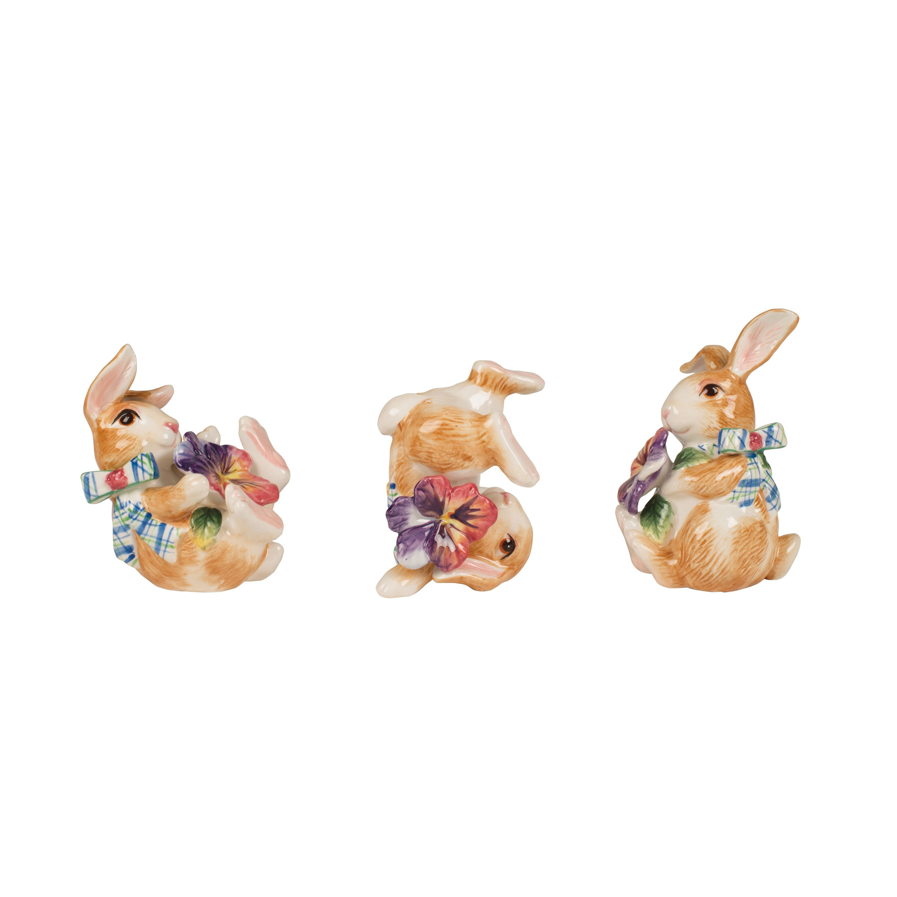 Halcyon Bunny Tumblers, Set Of 3 Easter Bunnies   Fitz and Floyd