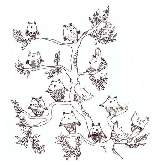 {owls in a tree} Miss Capricho