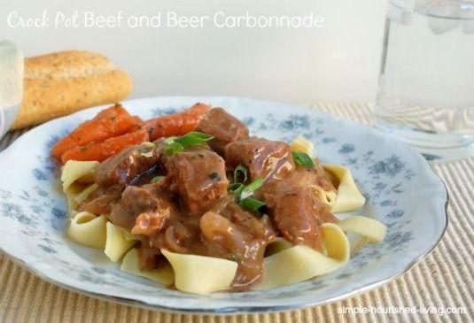 Crock Pot Beef and Beer Carbonnade | CrockPot Weight Watchers Recipes #WeightWatchers #CrockPot