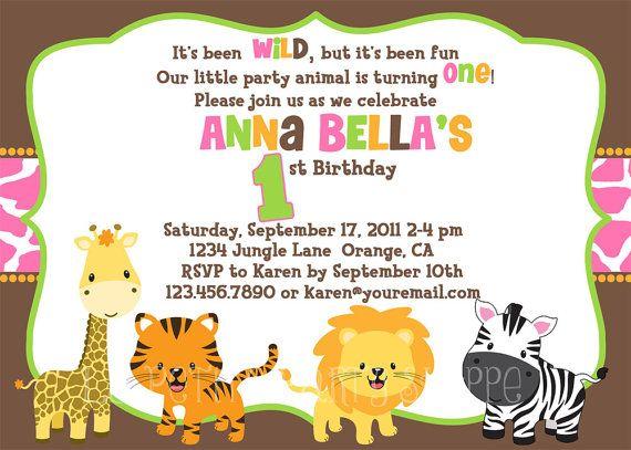 jungle safari birthday invitation for