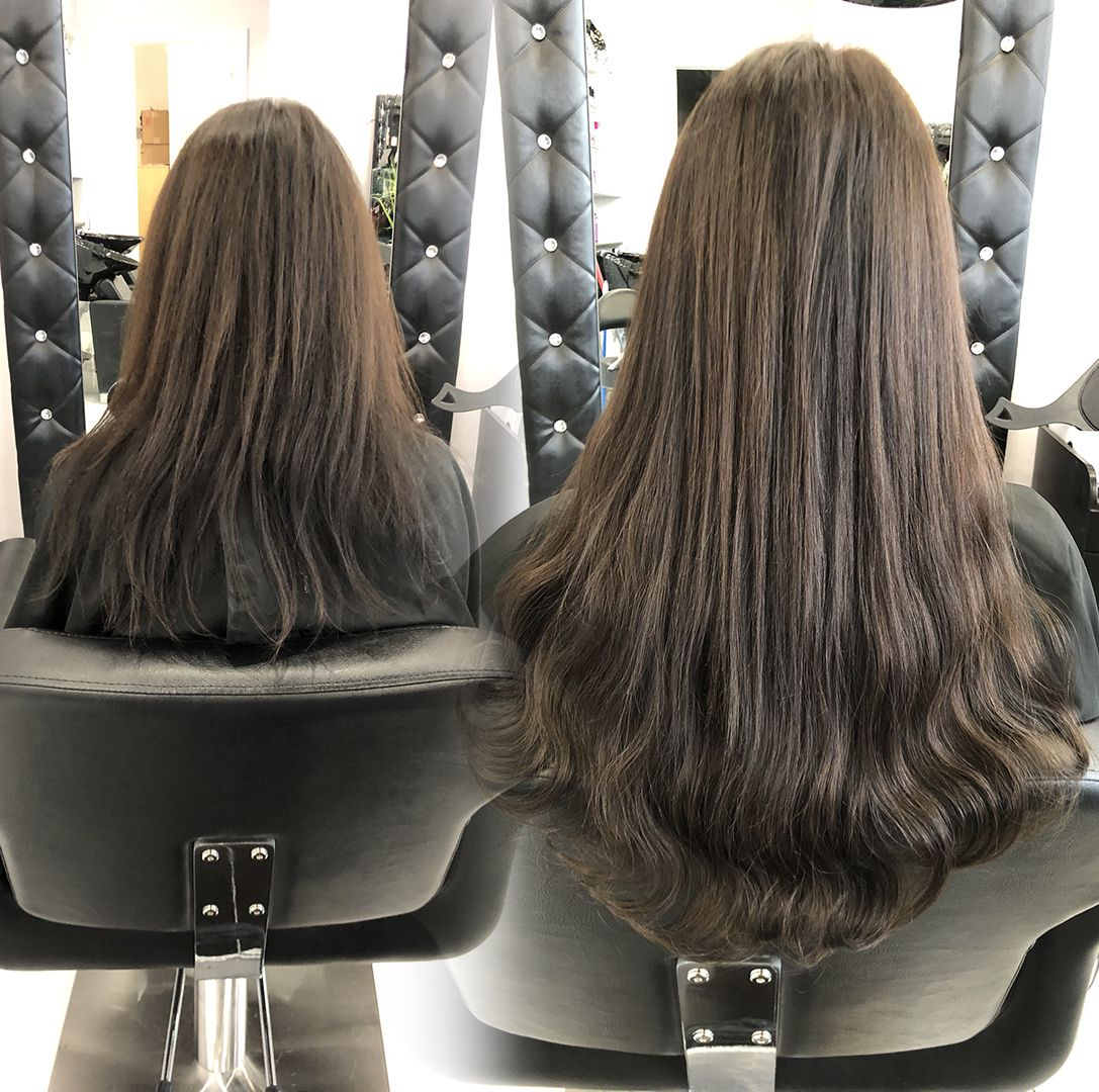 Before and After Hair Extensions, Toronto / Vaughan