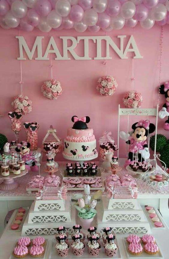 Minnie Mouse Themed Baby Shower Decoraciones E Ideas Para Fiestas