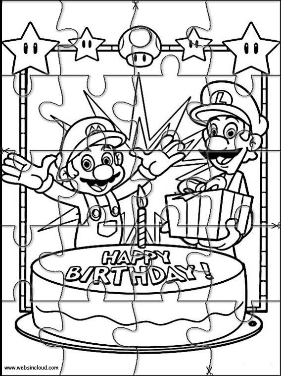 Printable jigsaw puzzles to cut out for kids Mario Bros 15
