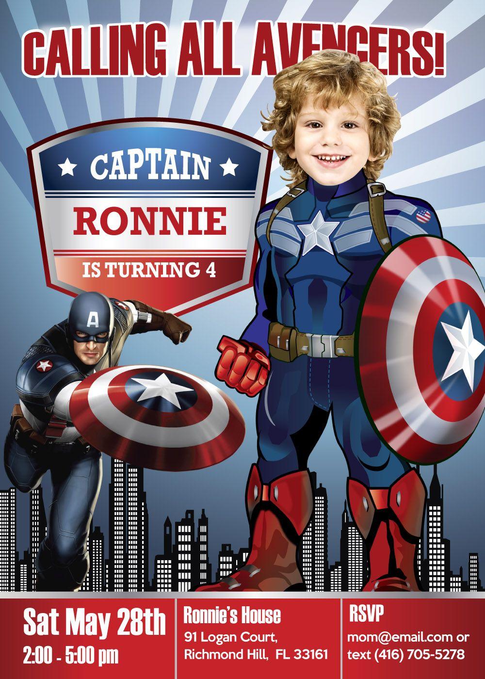 captain america theme party captain