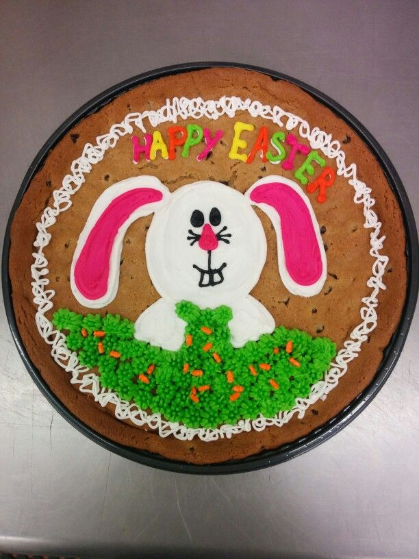 Big Bunny Cookie Cake Bunny Cookies Cartoon Cake Easter Cookies