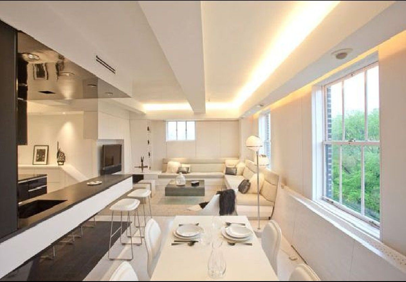 led home interior lighting. modern apartment interior design with led mood lighting by joel sanders led home