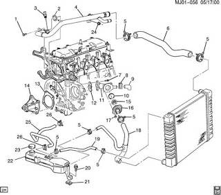 Wiring Diagram Blog: Chevrolet Cavalier 22 Engine Diagram