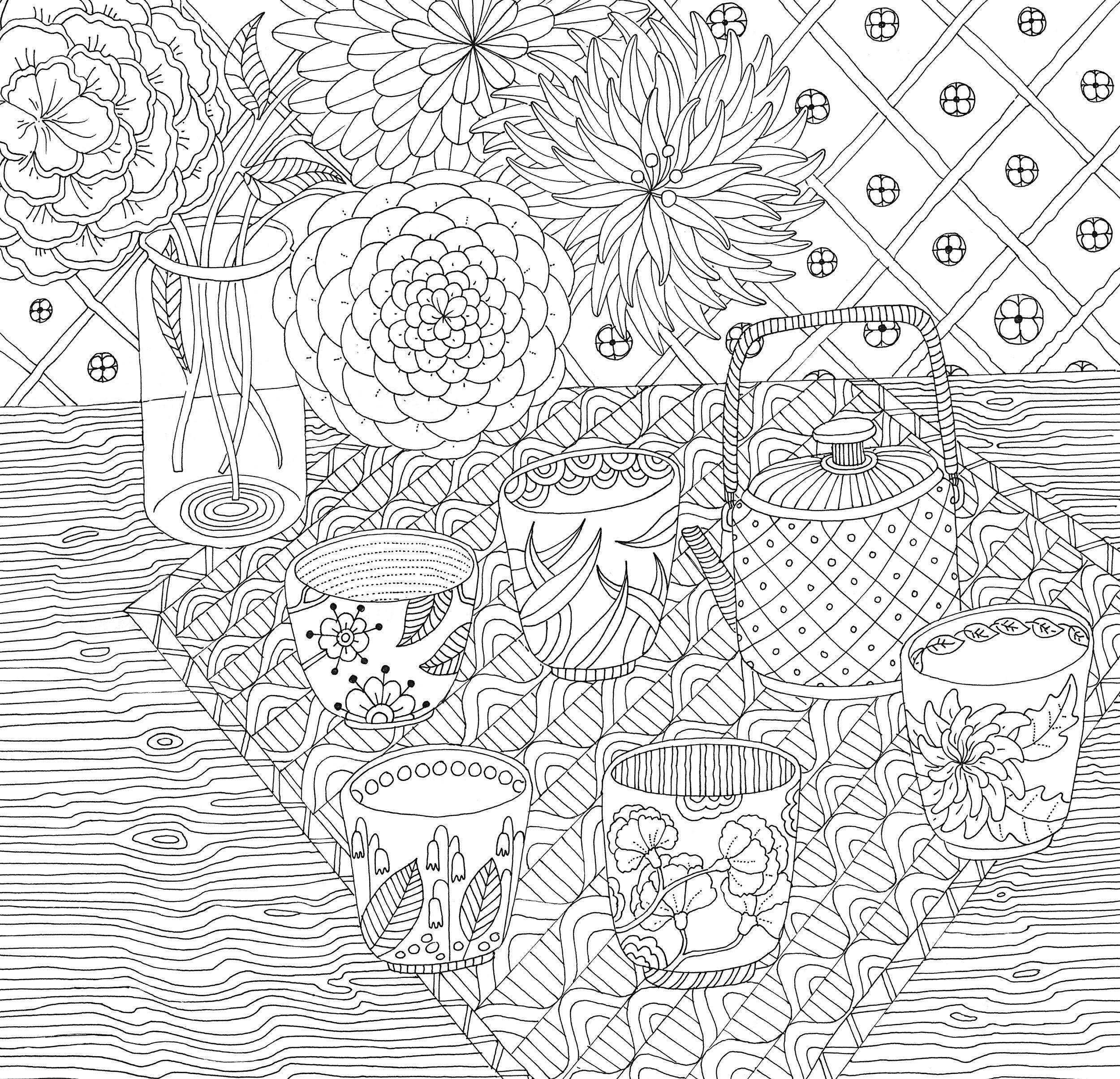 Zen Garden Adult Coloring Book 31 stressrelieving
