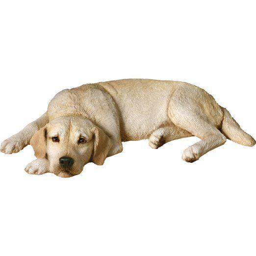 Sandicast Original Size Yellow Labrador Retriever Sculpture Lying Flat Dog Sculpture Dog Statue Labrador Retriever