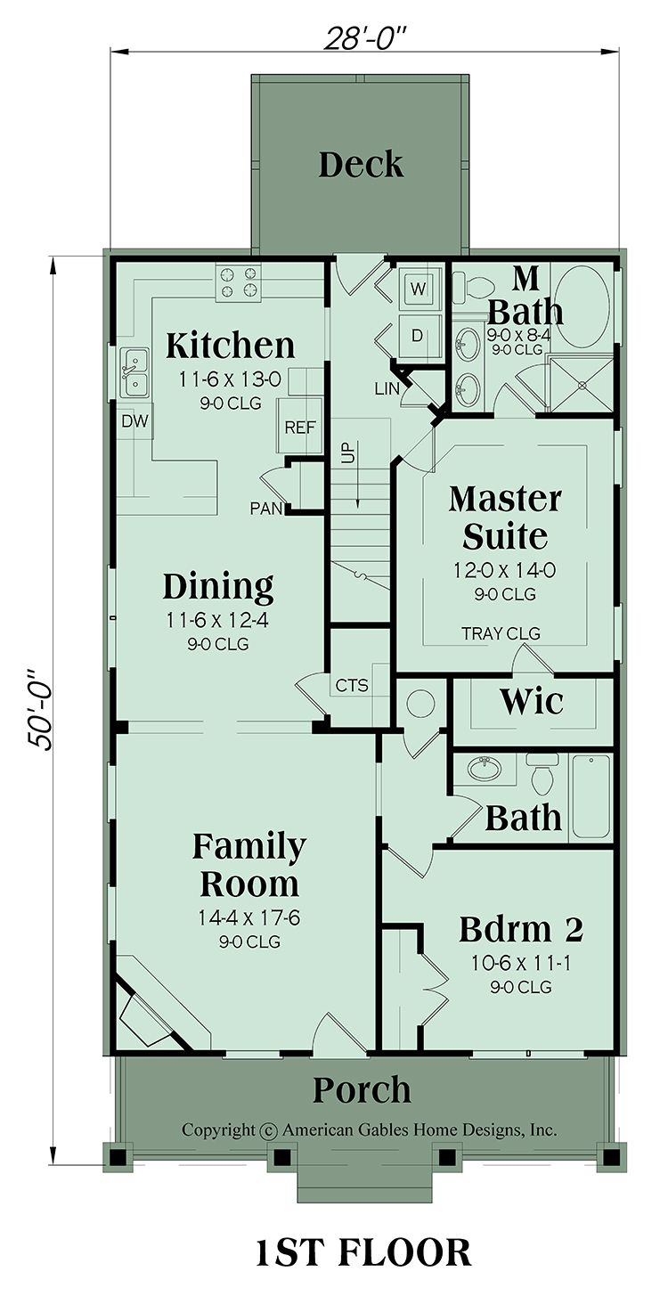 Narrow Lot Plan 1813 Square Feet 4 Bedrooms 3 Bathrooms Primrose Modern Floor Plans Floor Plans Narrow Lot House Plans