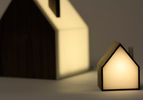 Good Night Lamp: A Family of House-Shaped Lamps | Night lamps, House ...