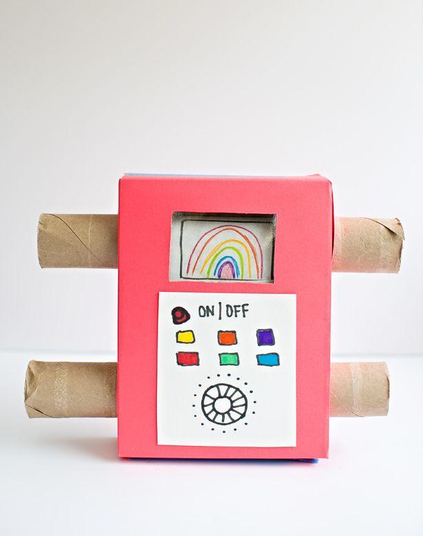 Easy Diy Recycled Cardboard Tv Showing Off Your Kids Art Fun Kids
