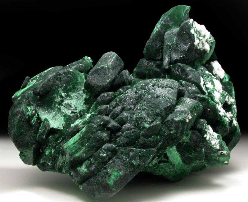 Malachite pseudomorphs after Azurite. Milpillas Mine, Cuitaca, Sonora, Mexico.
