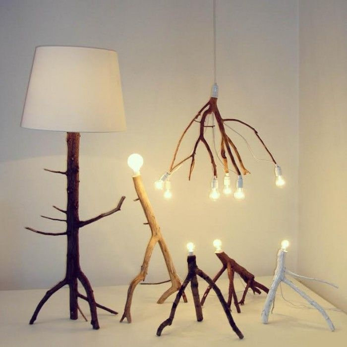 Tree Branch Lamp By Elin Riismark Diy Lamp Driftwood Lamp
