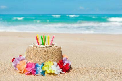 Beach Birthday Cake Of Sand Beach Birthday Cake Beach Birthday