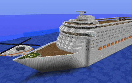 Cruise Ship Extreme Size Cool Minecraft Creations Cool Minecraft Minecraft City