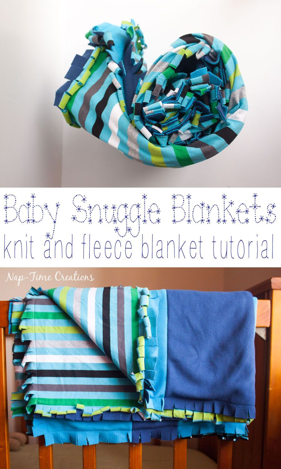 Snuggly baby blanket tutorial with knit u fleece baby blanket tutorial