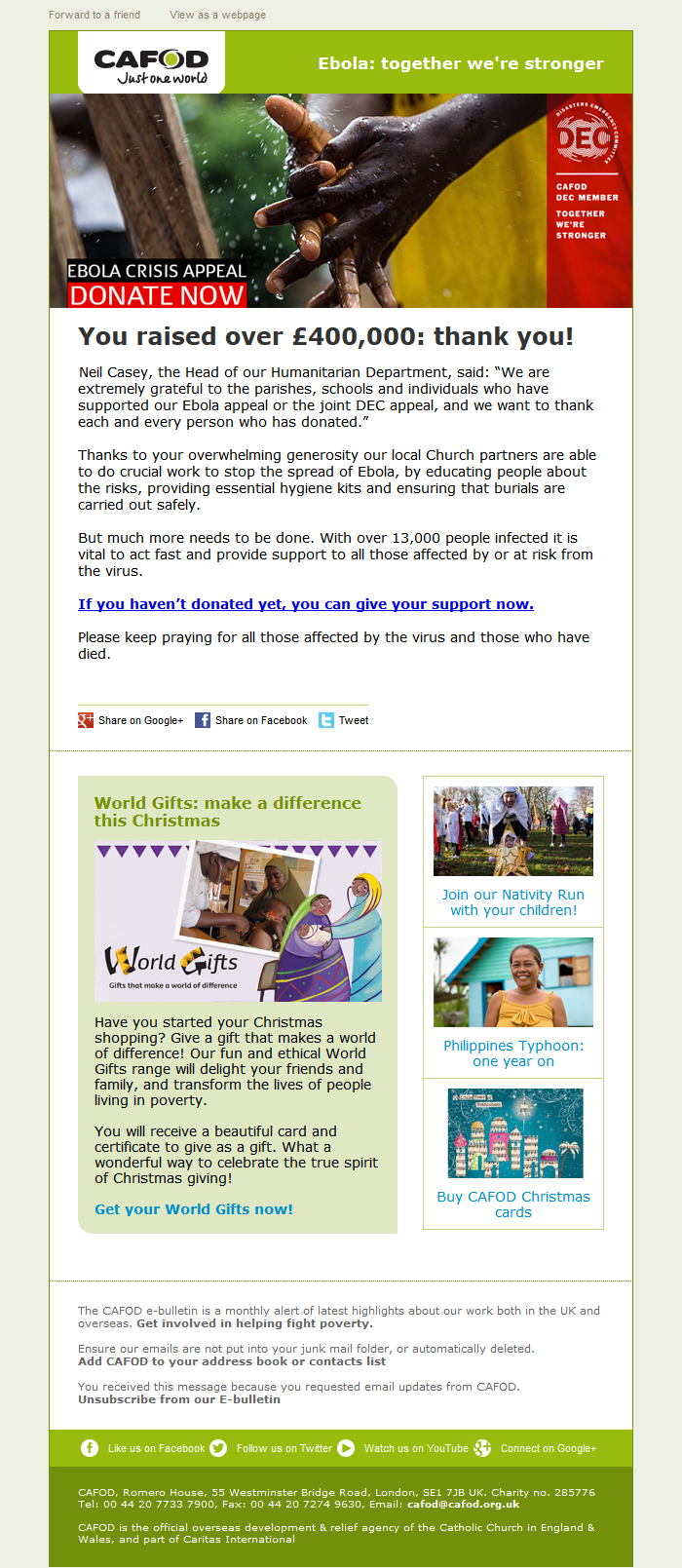 CAFOD – We couldn\'t do this without you. Thank you! | Appeal | Pinterest