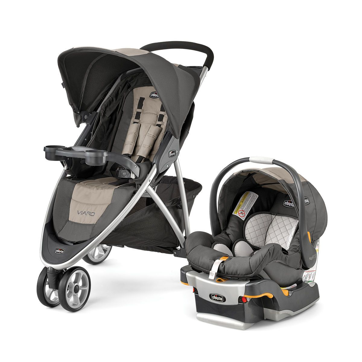 Graco FastAction Fold Click Connect Travel System with