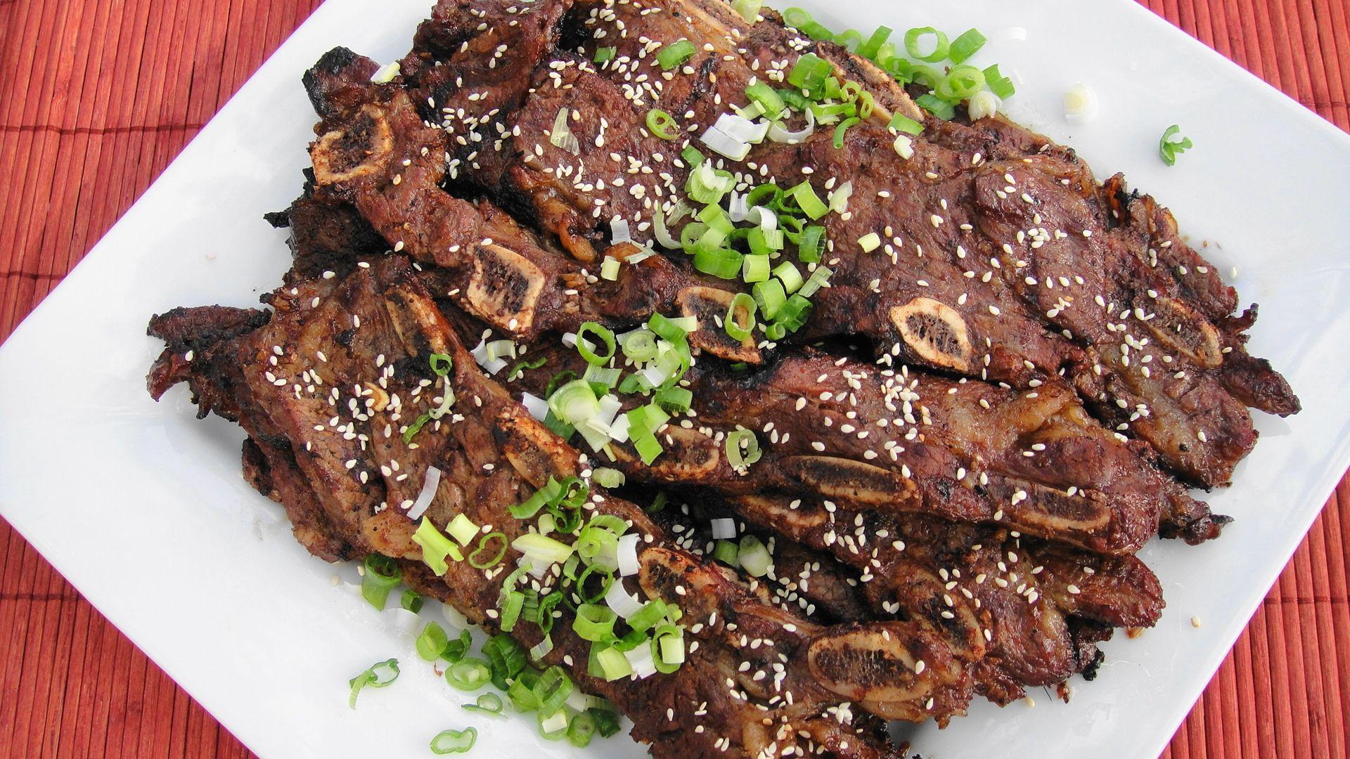 Korean Beef Short Ribs Galbi Or Kalbi Recipe Rib Recipes Beef Short Ribs Short Ribs Recipe
